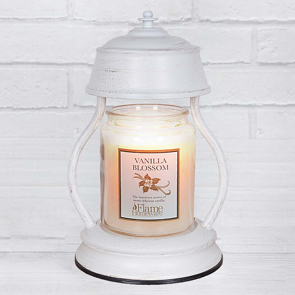 White Candle Warmer Lantern 1-4 R49