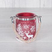 Red Ice Look Candle Holder