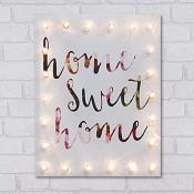 Home Sweet Home Light Up Canvas