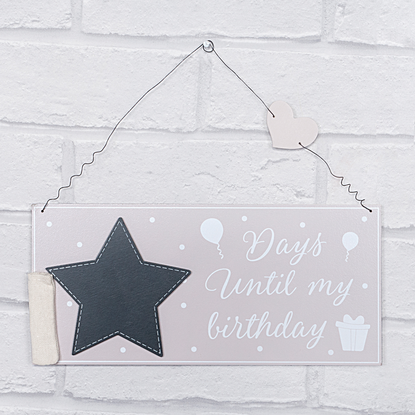 Birthday Countdown Plaque