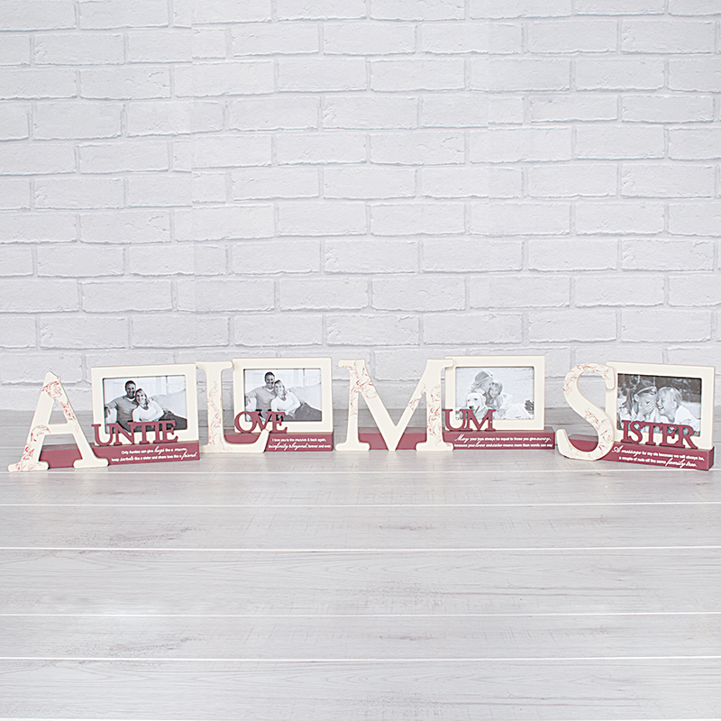 Red & Cream Tabletop Cutout with Frame