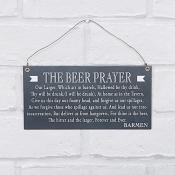 The Beer Prayer Hanging Plaque