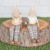 Gerald & Gertrude Gnome Sitting Set of Two