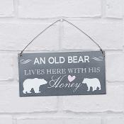 Bear & His Honey Hanging Plaque