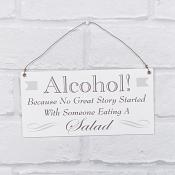 Alcohol Hanging Plaque