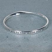 Moon and Back Bangle