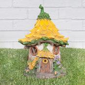 Yellow Flower Light Up Fairy House