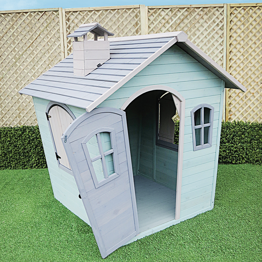 Boys Wendy House Blue open