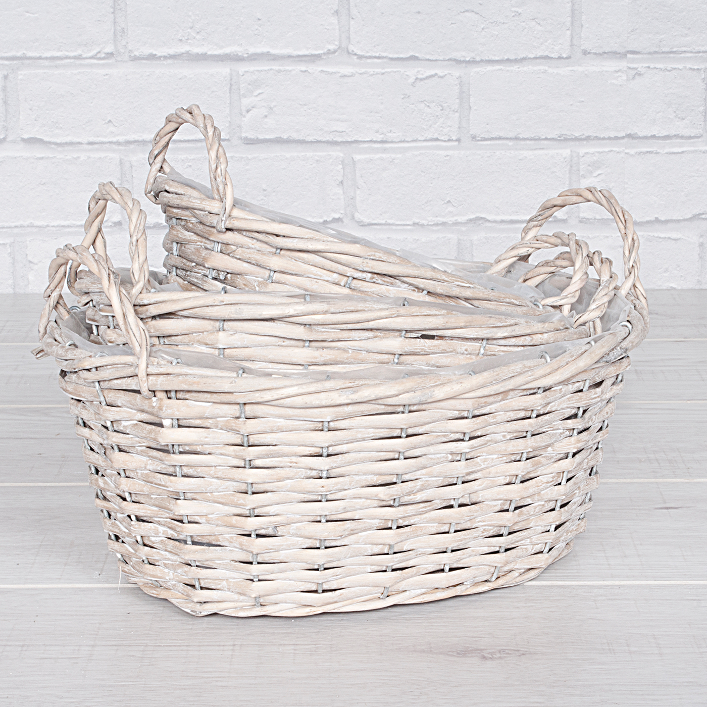 Willow Oval Basket Set of Three