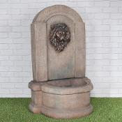 Lion Wall Water Feature