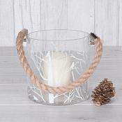 Winter Tree Rope Candle Holder Small