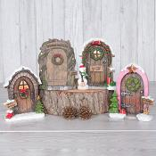 Mini Xmas Doors Set Of Four