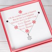Let it Snow - Boxed Snowflake Necklace