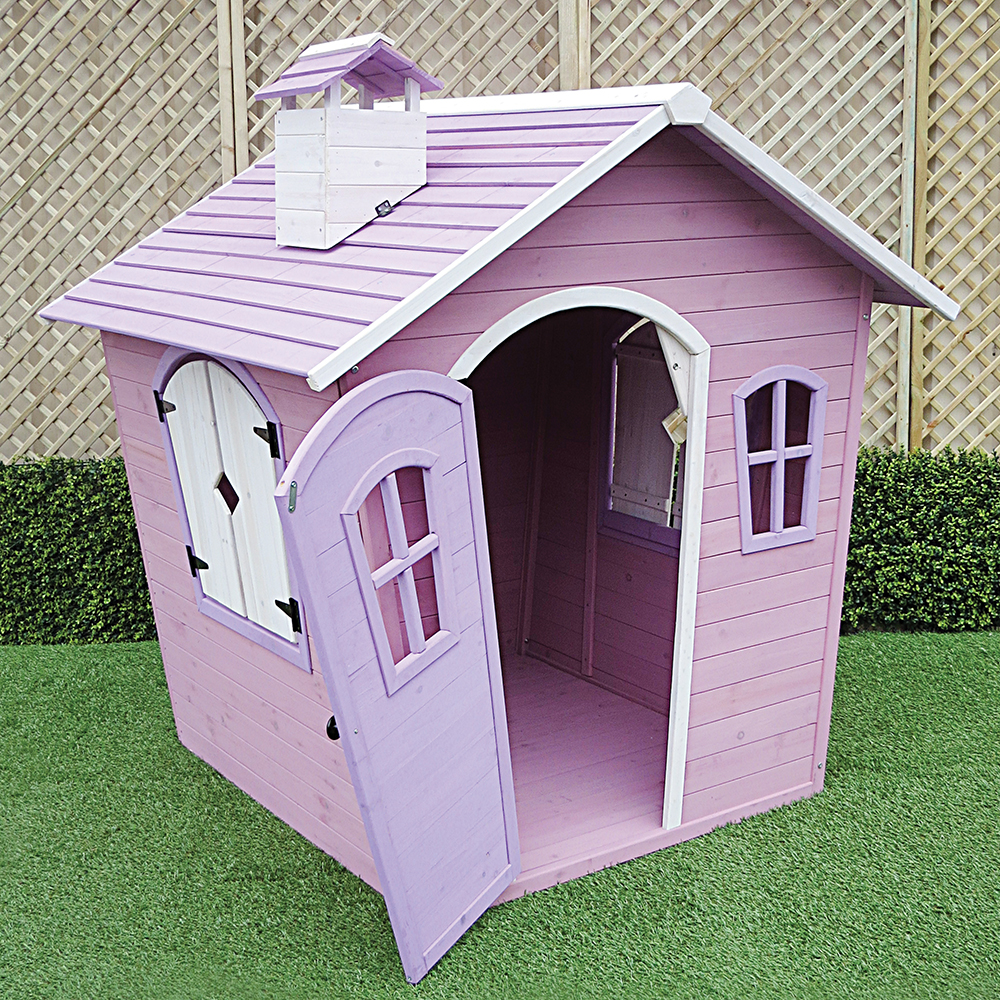 Girls Wendy House Pink Open
