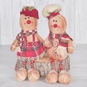 John & Julie Gingerbread Button Legs Set of Two