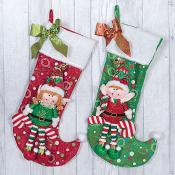 Buddy & Ginger Elf Stockings Set of Two