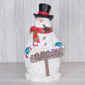 Snowman Welcome Sign with LED (X-Large)