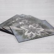 Silver Poinsettia Placemat Set of Four