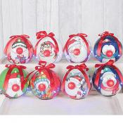 Flashing Nose Baubles (box of eight)