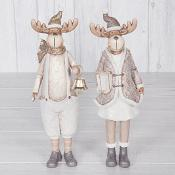 Gold Coat Reindeer (Large) Set of Two