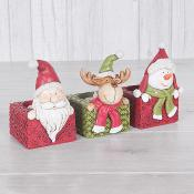 Christmas Candle Holder Set of Three