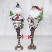 Steampunk LED Snowman & Santa (Large)