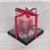 Boxed Decorative Red Candle Holder