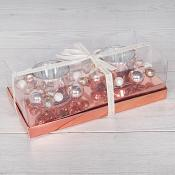 Boxed Decorative 2 Gold Tea Light Holders