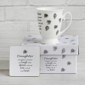 Sentiment Mug & Coaster Set - Daughter