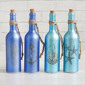 Light Up Nautical Bottles Set of Four