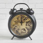 Black Cog Clock Standing