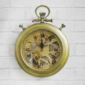 Antique Style Cog Clock Wall