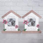 Red Flower Sentiment Home Frame Mum & Nana