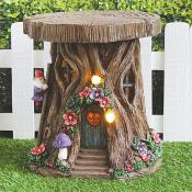Solar House Stump with Gnomes