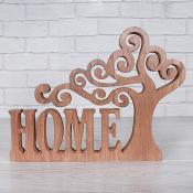 Wooden Tree Home Sentiment