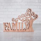 Wooden Tree Family Sentiment