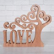 Wooden Tree Love Sentiment