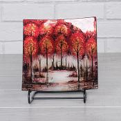 Red Trees Plate Small