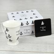 I'd Rather Be Sailing - Mug & Coaster Set