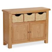 Oak Furniture Sideboard with Baskets